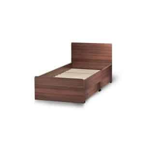 Κρεβάτι μονό Iris με 2 συρτάρια μονόχρωμο-w