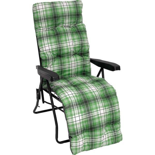 Πολυθρόνα βεράντας πράσινη μεταλλική πολ/ων θέσεων