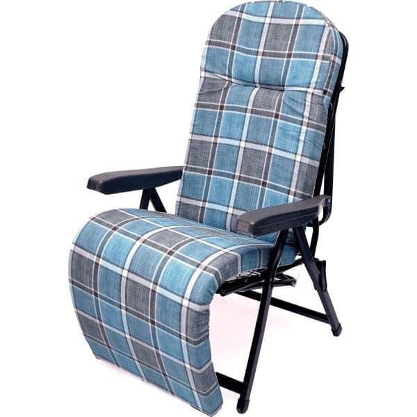 Πολυθρόνα-κρεβάτι μπλε μεταλλική