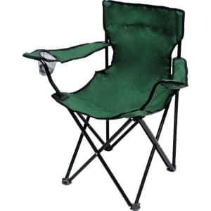 Πολυθρόνα πράσινη μεταλλική πτυσσόμενη σε τσαντάκι