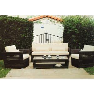 Σαλόνι κήπου Alternative με μπεζ μαξιλάρια