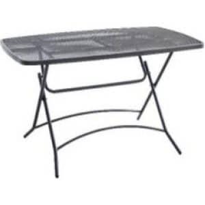 Τραπέζι κήπου πτυσσόμενο διάτρητο ανθρακί