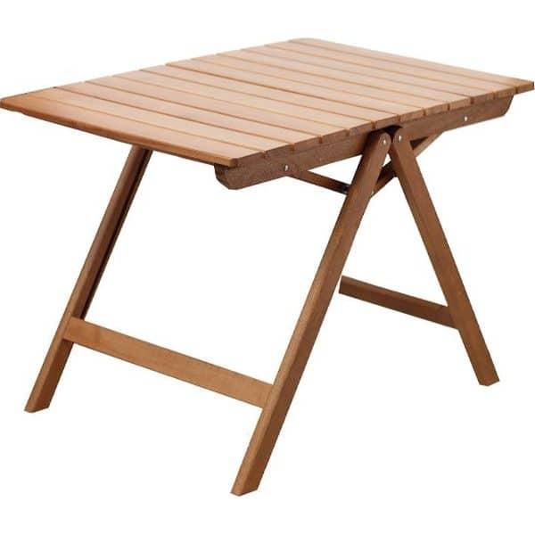 Folding garden table in three shades