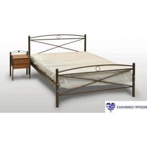 Μεταλλικό κρεβάτι υπέρδιπλο Χίος