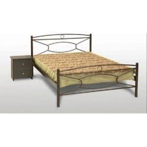 Μεταλλικό κρεβάτι διπλό Κρίκος