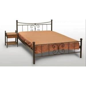 Μεταλλικό κρεβάτι διπλό Πεταλούδα