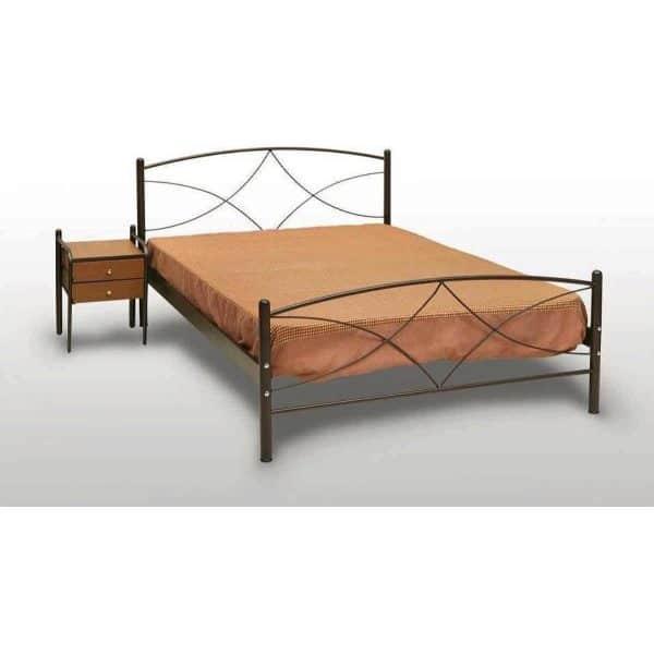 Μεταλλικό κρεβάτι διπλό Άνδρος