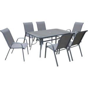 Τραπεζαρία κήπου Porto με 6 καρέκλες