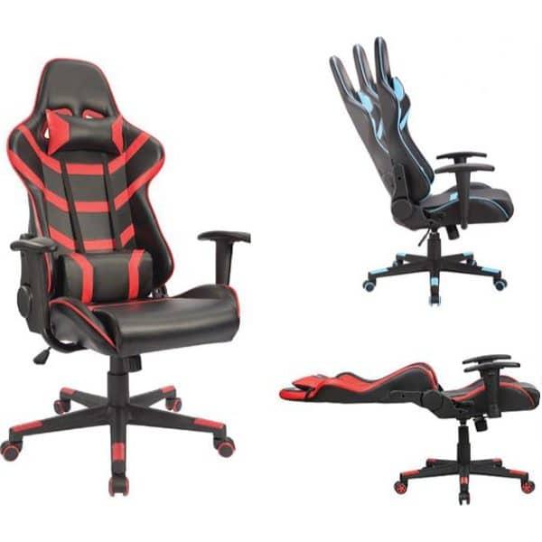 Καρέκλα γραφείου gaming κόκκινη-μαύρη