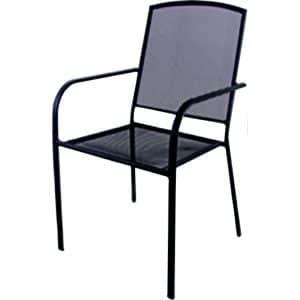 Καρέκλα κήπου ανθρακί μεταλλική διάτρητη