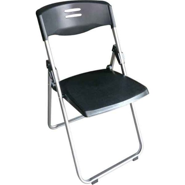 Καρέκλα βοηθητική πτυσσόμενη μαύρη