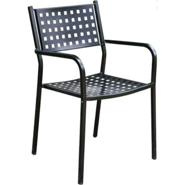 Καρέκλα κήπου Karo μαύρη