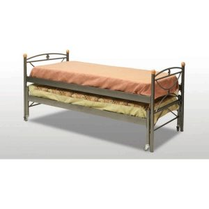 Μεταλλικό συρόμενο κρεβάτι μονό