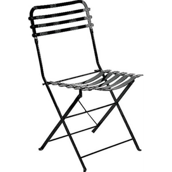 Καρέκλα κήπου Ζαππείου μαύρη